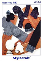 Stylecraft dk pattern 8078 winter accessories